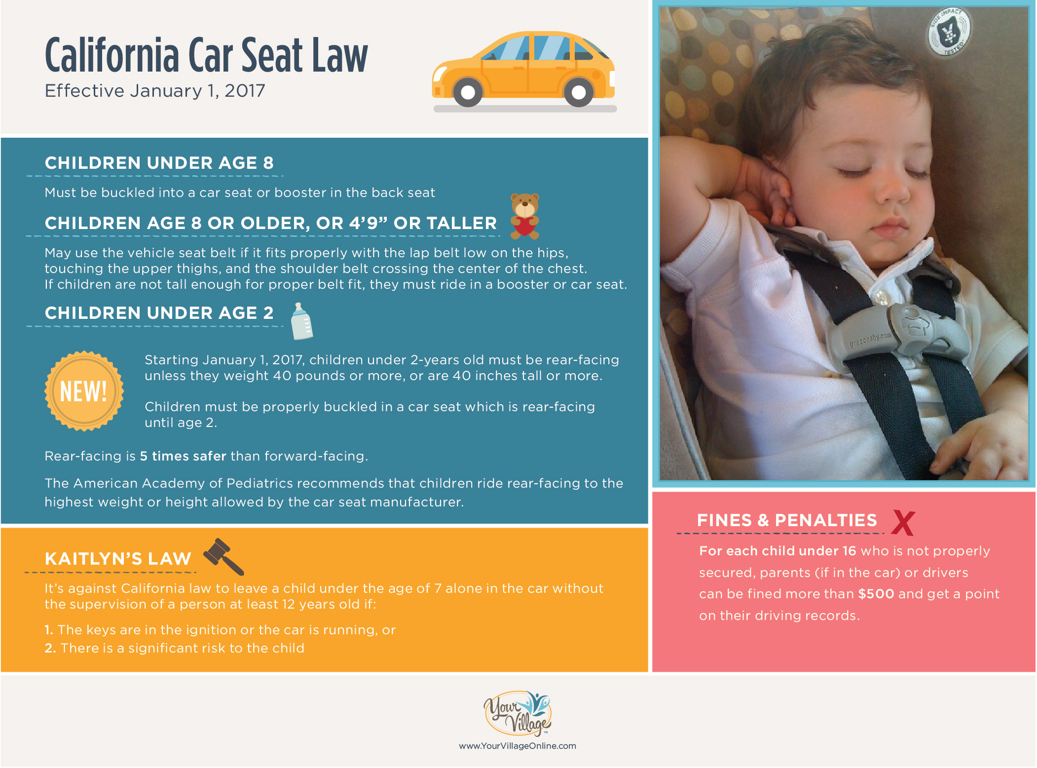 New California Car Seat Safety Laws for 2017 - Your Village